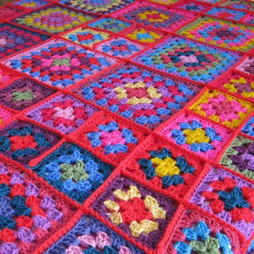 granny square crochet pattern | Folksy :: Buy \