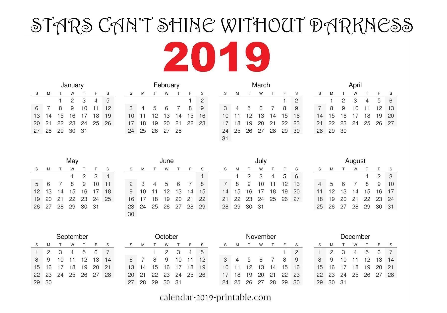2019 Inspirational Quotes Calendar 2019 Calendars Pinterest