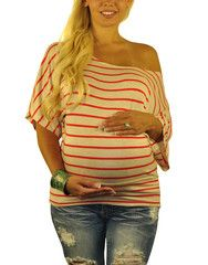 Striped Maternity Tops - Too Jewel For School – Mommylicious Maternity
