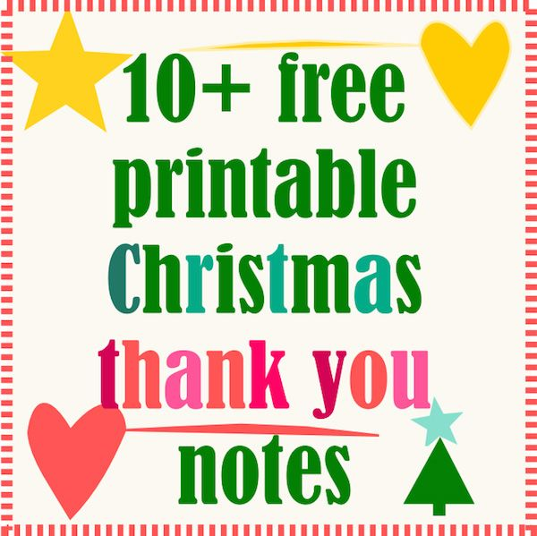 10 + free printable Christmas thank you notes - ausdruckbare - printable thank you note