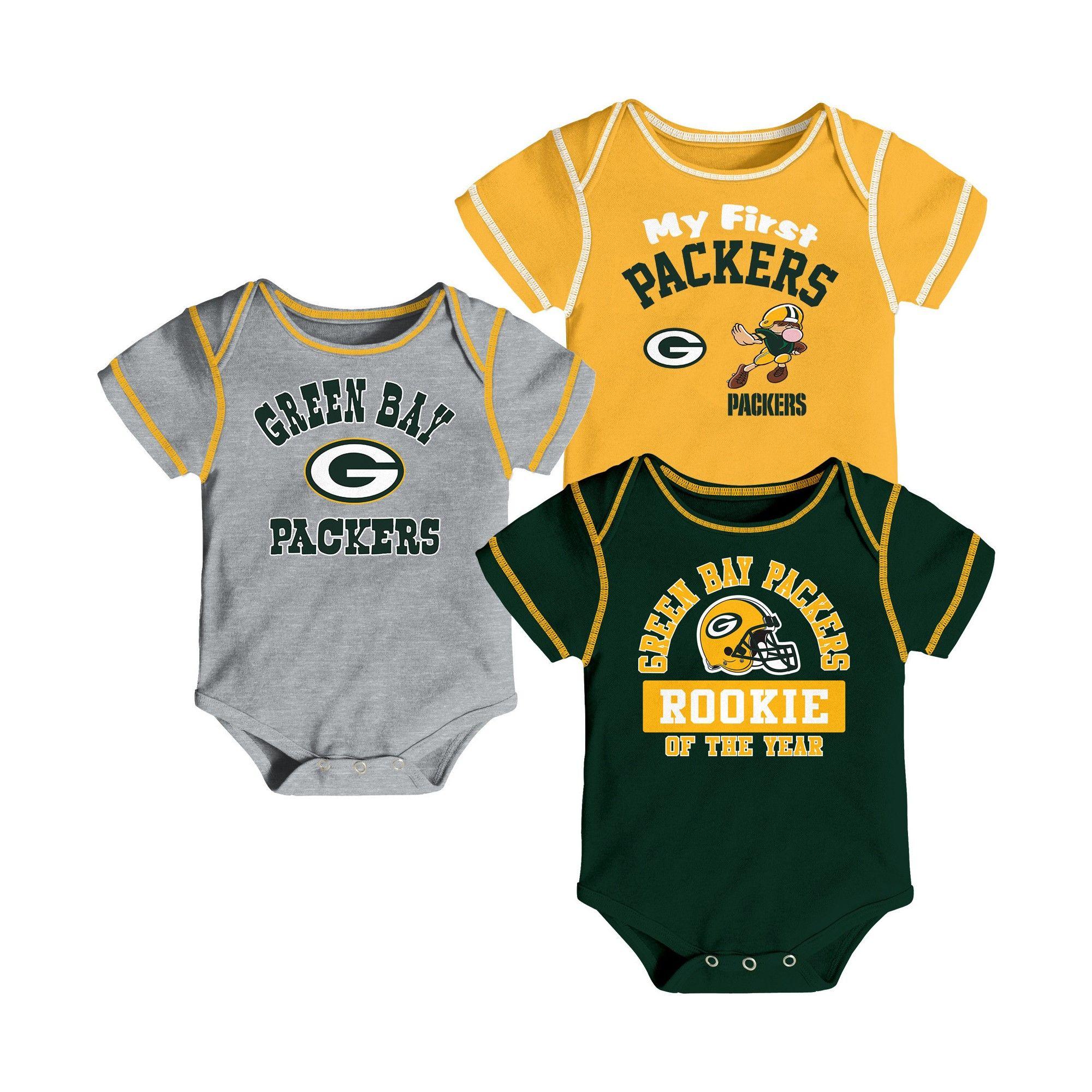 1d84ac868 Green Bay Packers Boys  Newest Fan 3pk Bodysuit Set 6-9M ...