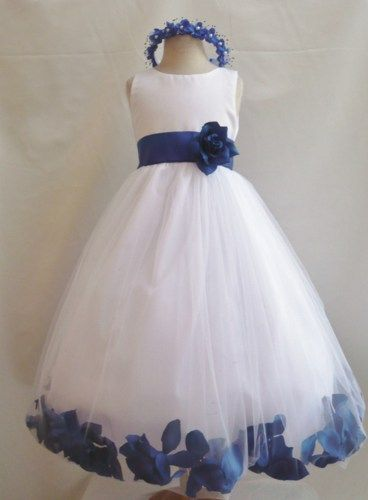 Black, royal blue and White Wedding - Google Search | Flower girl ...