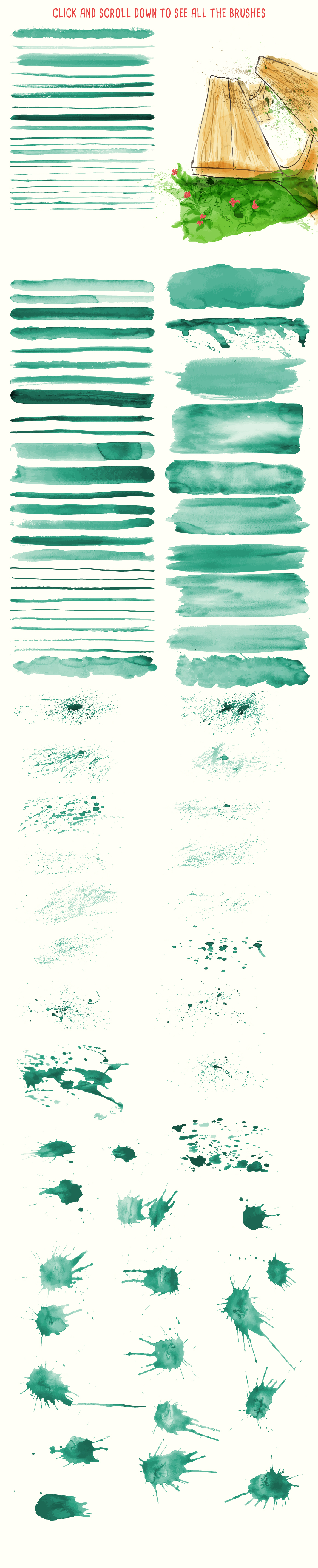 Free Watercolor Elements For Designers Elements Smudging
