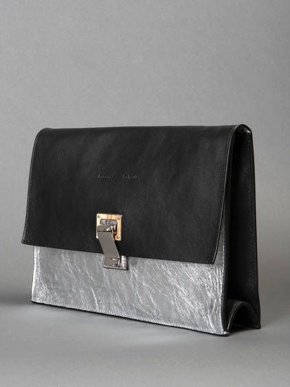 Dawn to white w/ Proenza Schouler bicolor handbag