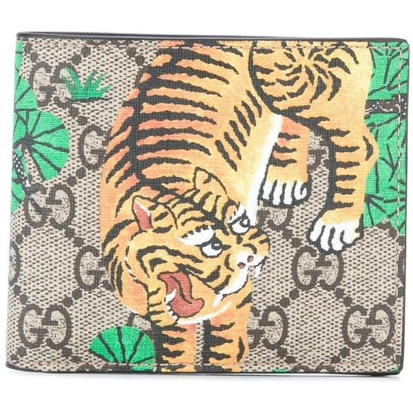 a66ef074 Gucci GG Supreme Bengal tiger wallet ($350) ❤ liked on Polyvore ...