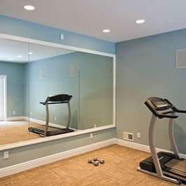 home gym large framed mirror would put this mirror behind