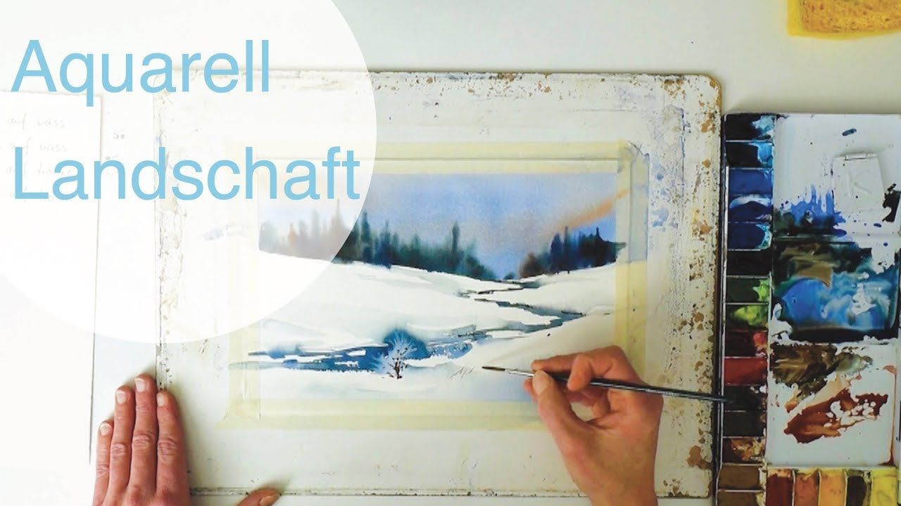Winterlandschaft In Aquarell Ganz Einfach Aquarellieren Lernen