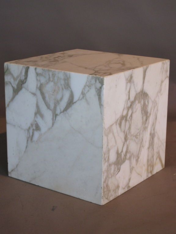 Pace Collection Marble Cube Table C 1970 S Signed 1stdibs Com Table Cube Table Vintage Table