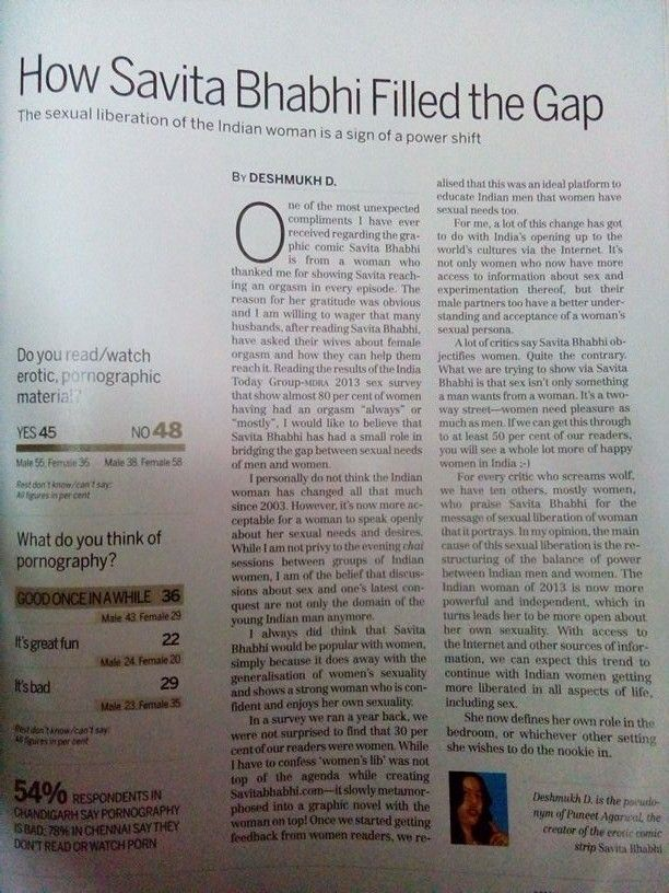 Questionable article in india today magazine.. I dnt accept this point of view though!! What say??