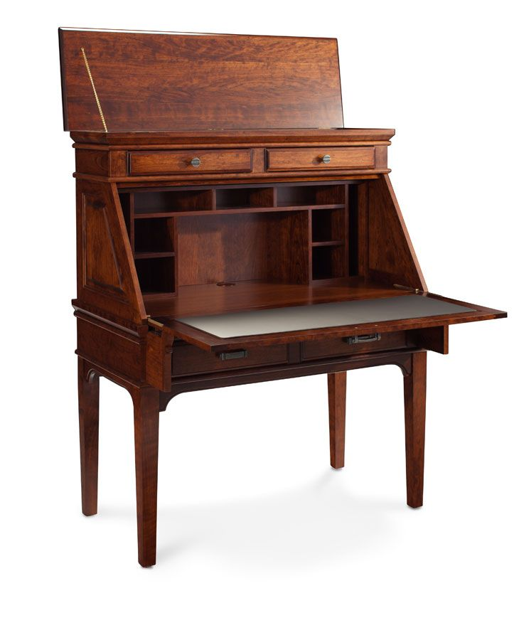 B Railroad Terminal Desk Secretary From Simply Amish