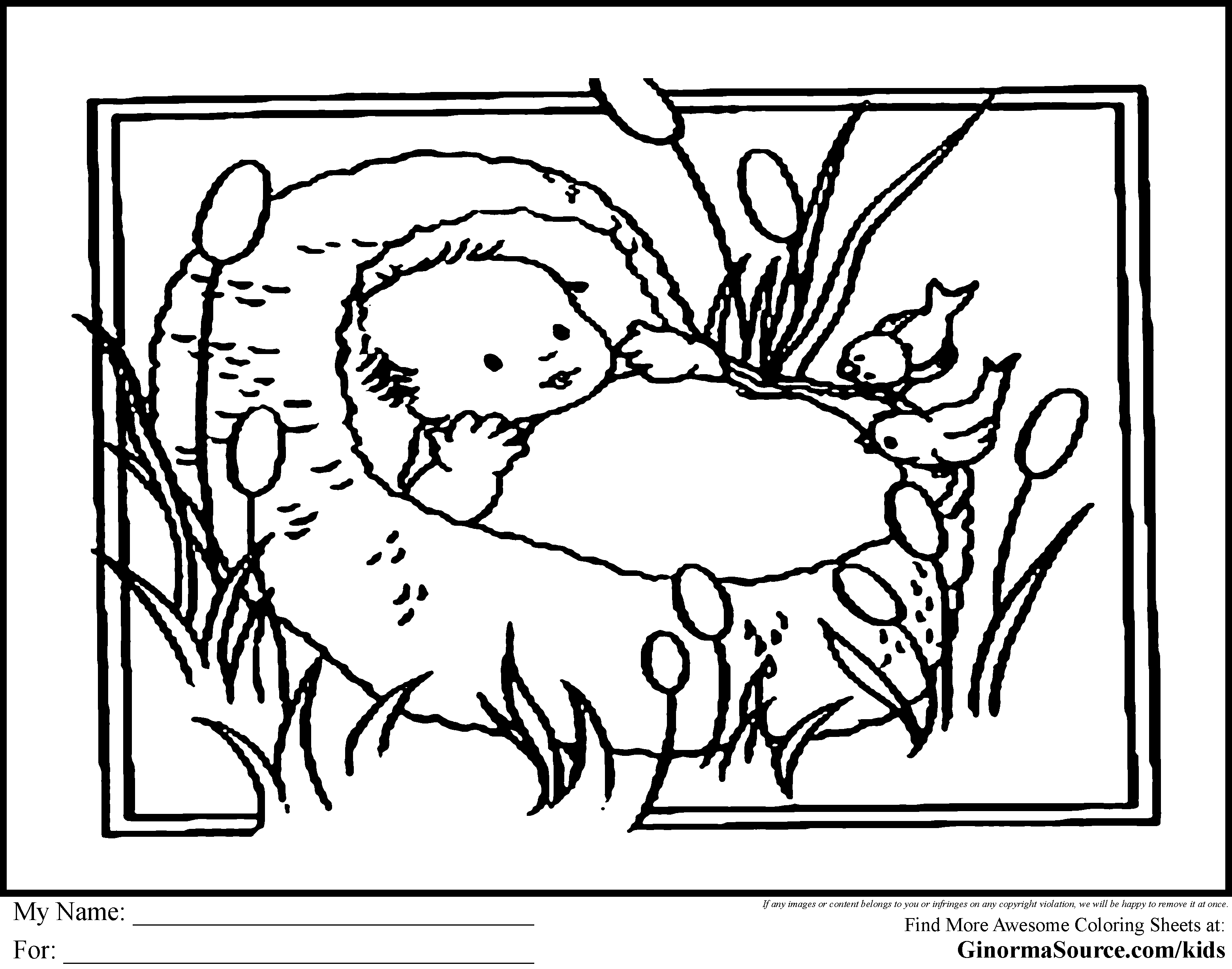 moses in bulrushes coloring pages - photo#1