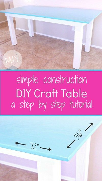 A Simple Construction Craft Table Make It Yours With Melissa Construction Crafts Kids Craft Tables Craft Table Diy