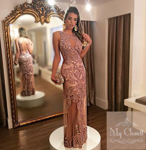 55a2b1792 Vestido de formatura, vestido de pedraria, vestido bordado, Thays Temponi ,  My Closett, aluguel de vestidos