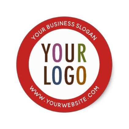 Round promotional business stickers company logo business logo cyo personalize customize diy special
