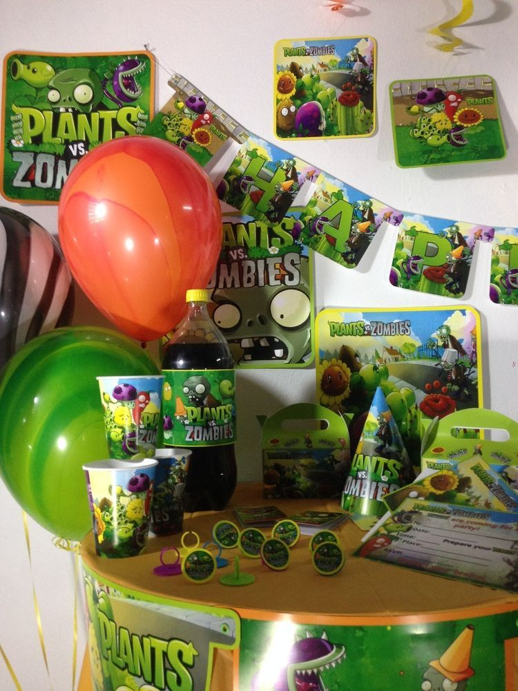 Plants Vs Zombies Party Supplies Birthday Happy Birthday Party