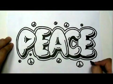 How To Draw Graffiti Hearts How to draw peace in graffiti