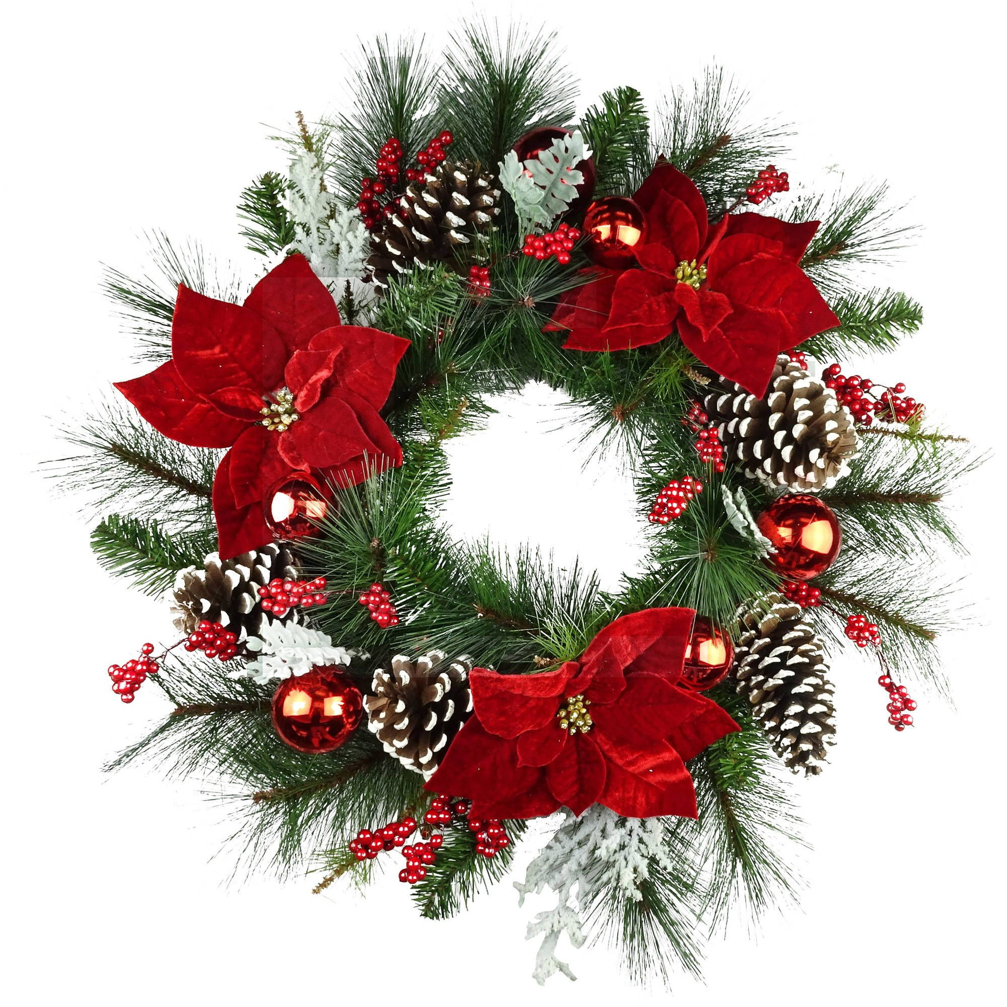 Outdoor Christmas Wreaths And Garland Country Mix Small 10 Inch Wreath Red White Blue Pip