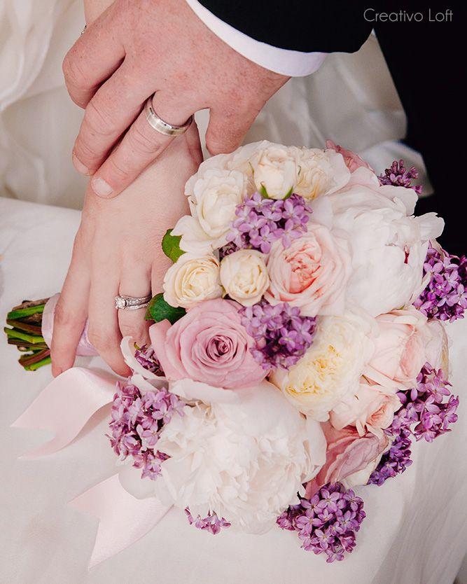 Lavender Lilac Blush Ivory Wedding Bouquet Creativo