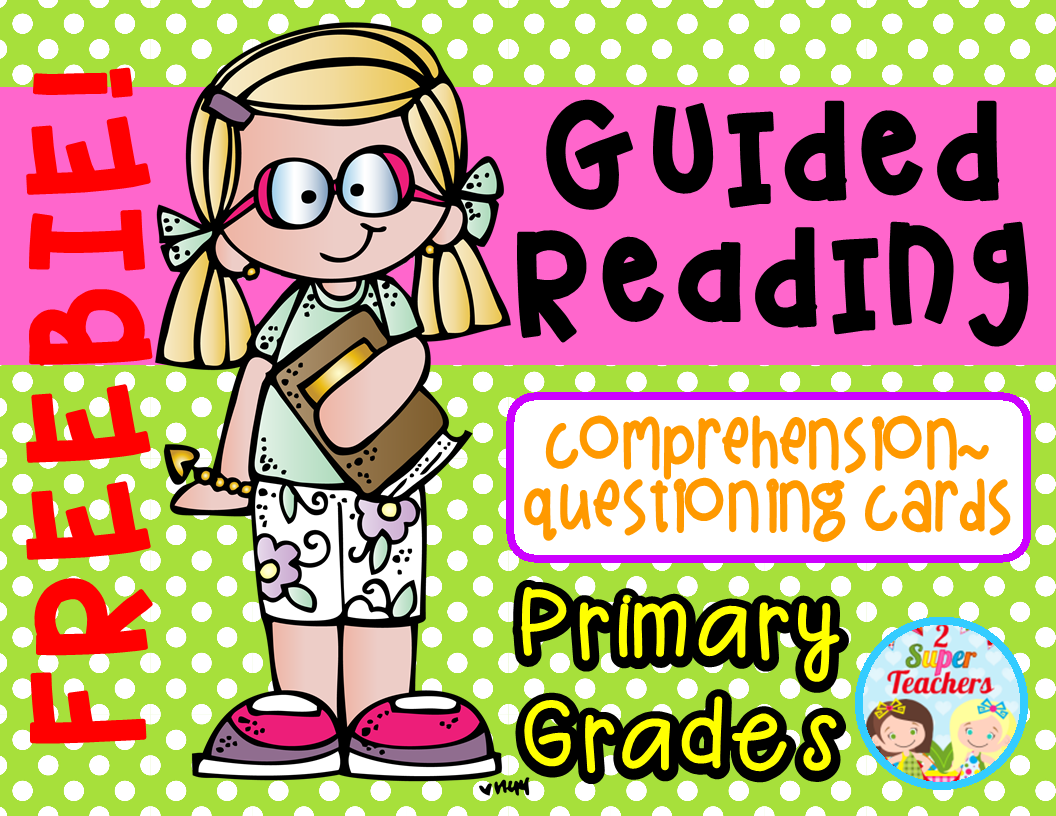 Guided Reading Comprehension Questioning Cards Freebie