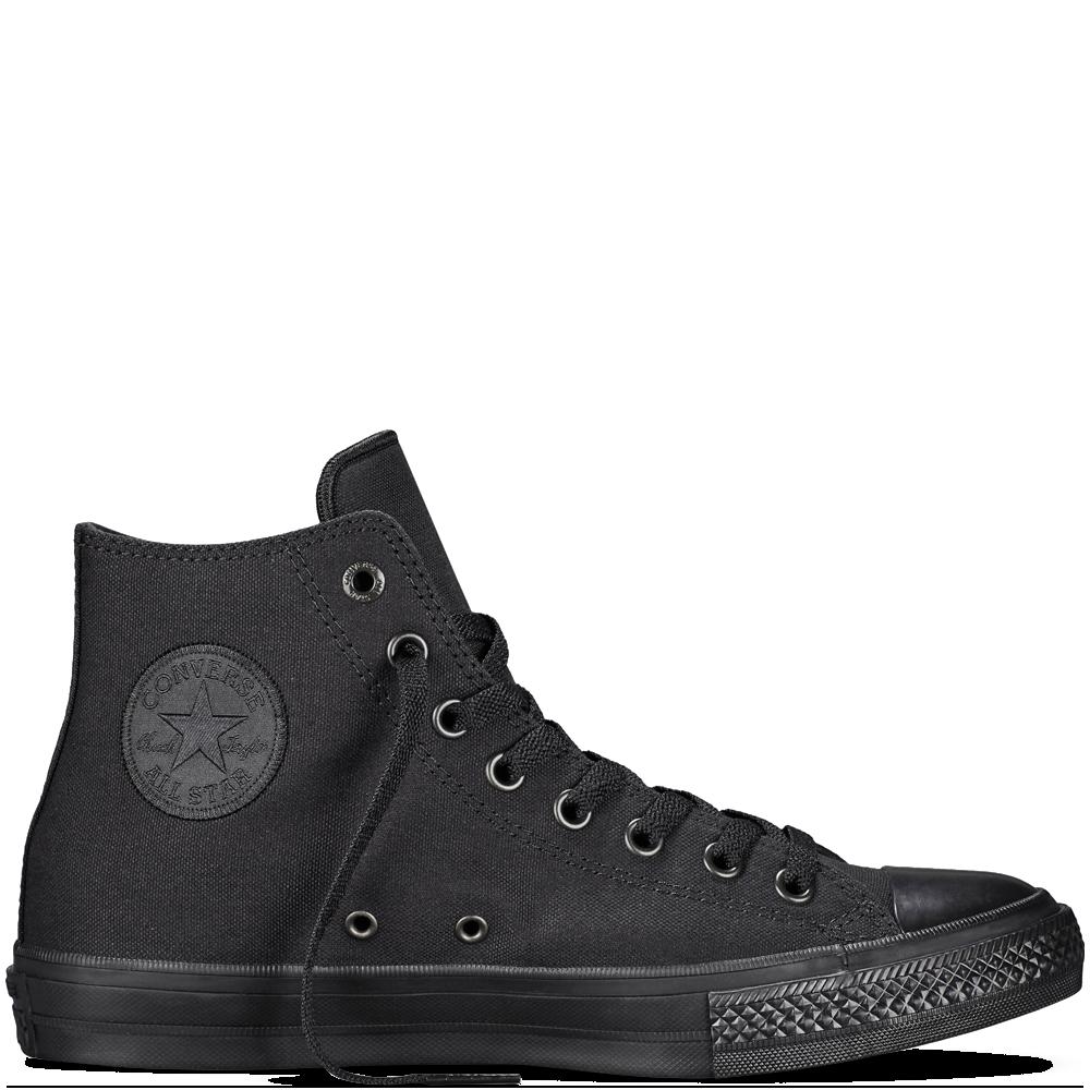 Converse - Chuck Taylor All Star II Monochrome - Black - Hi Top