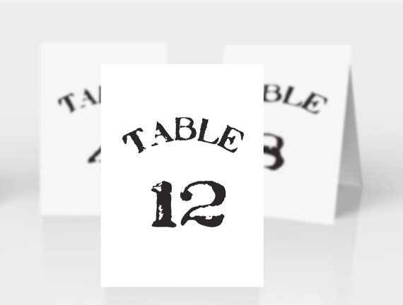 Hipster vintage table number template Wedding table