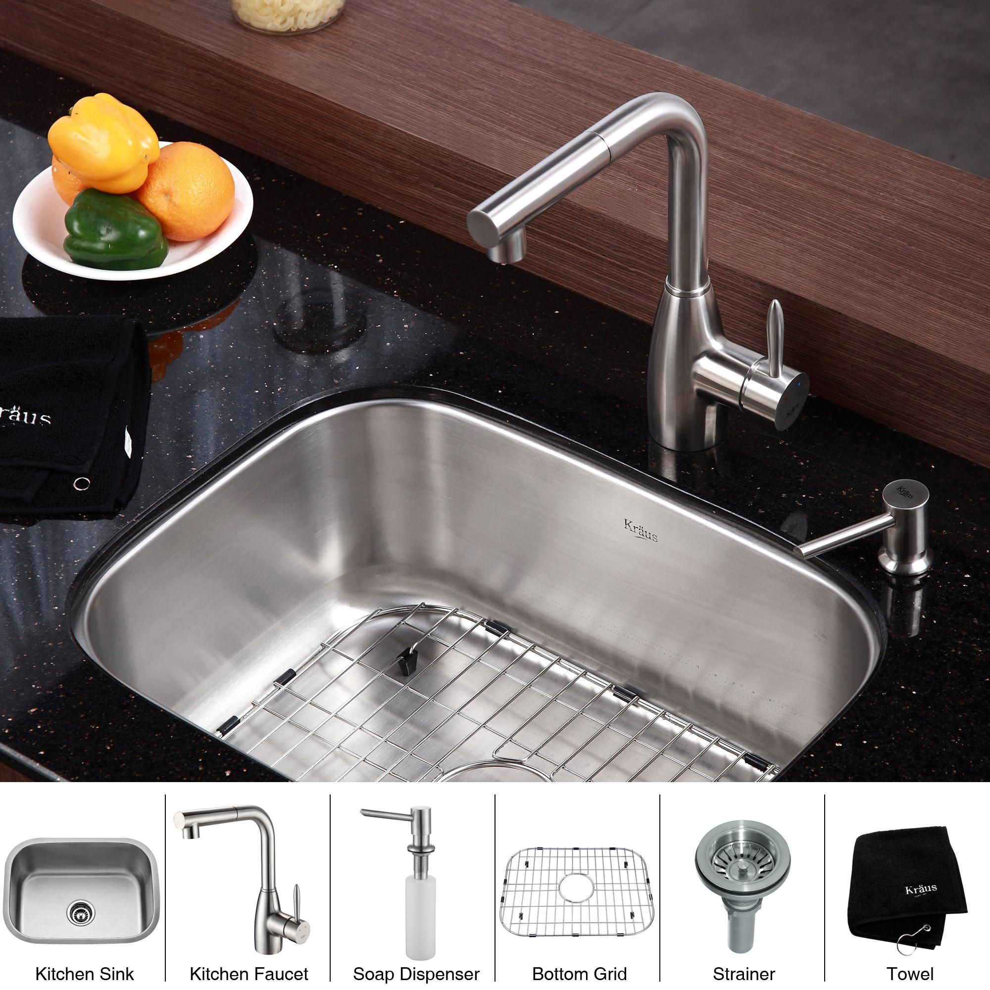 With an industrial look and contemporary design, this stainless-steel undermount kitchen sink from Kraus will add a luxurious look to your kitchen. The single-handle design is easy for kids to operate, and you will love the scratch-resistant finish.