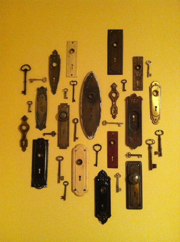 Key Wall Art skeleton key wall ideas | antique key hole plate and skeleton keys