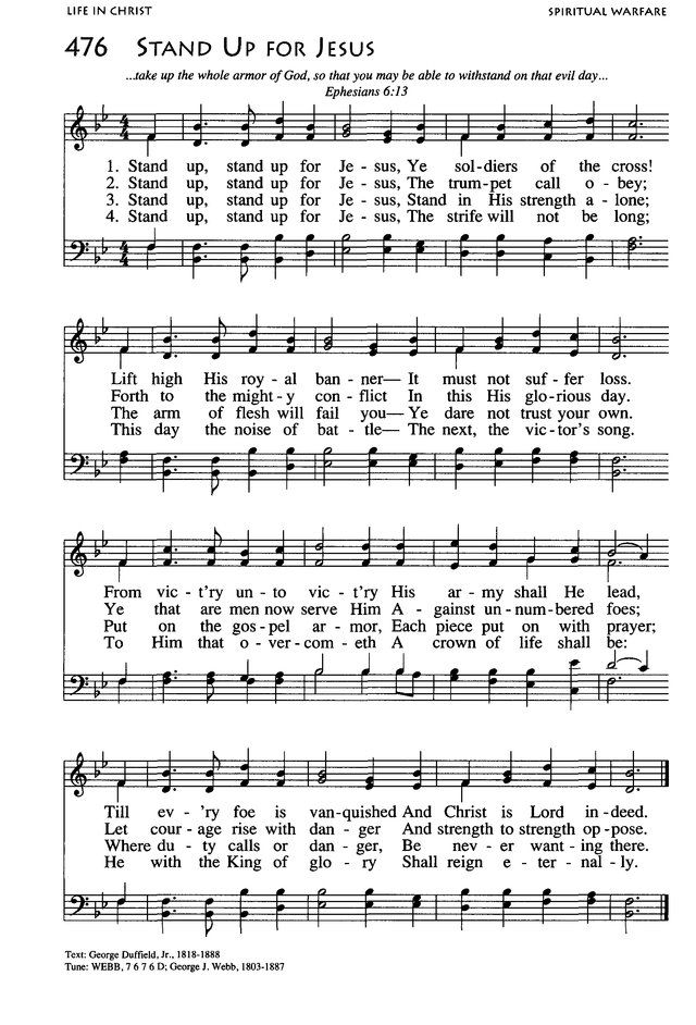 Stand Up for Jesus. from African American Heritage Hymnal ...