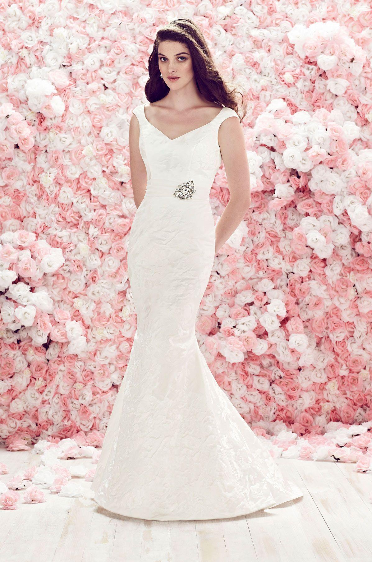 Fitted Brocade Wedding Dress - Style #1862 | Mikaella bridal, Dress ...