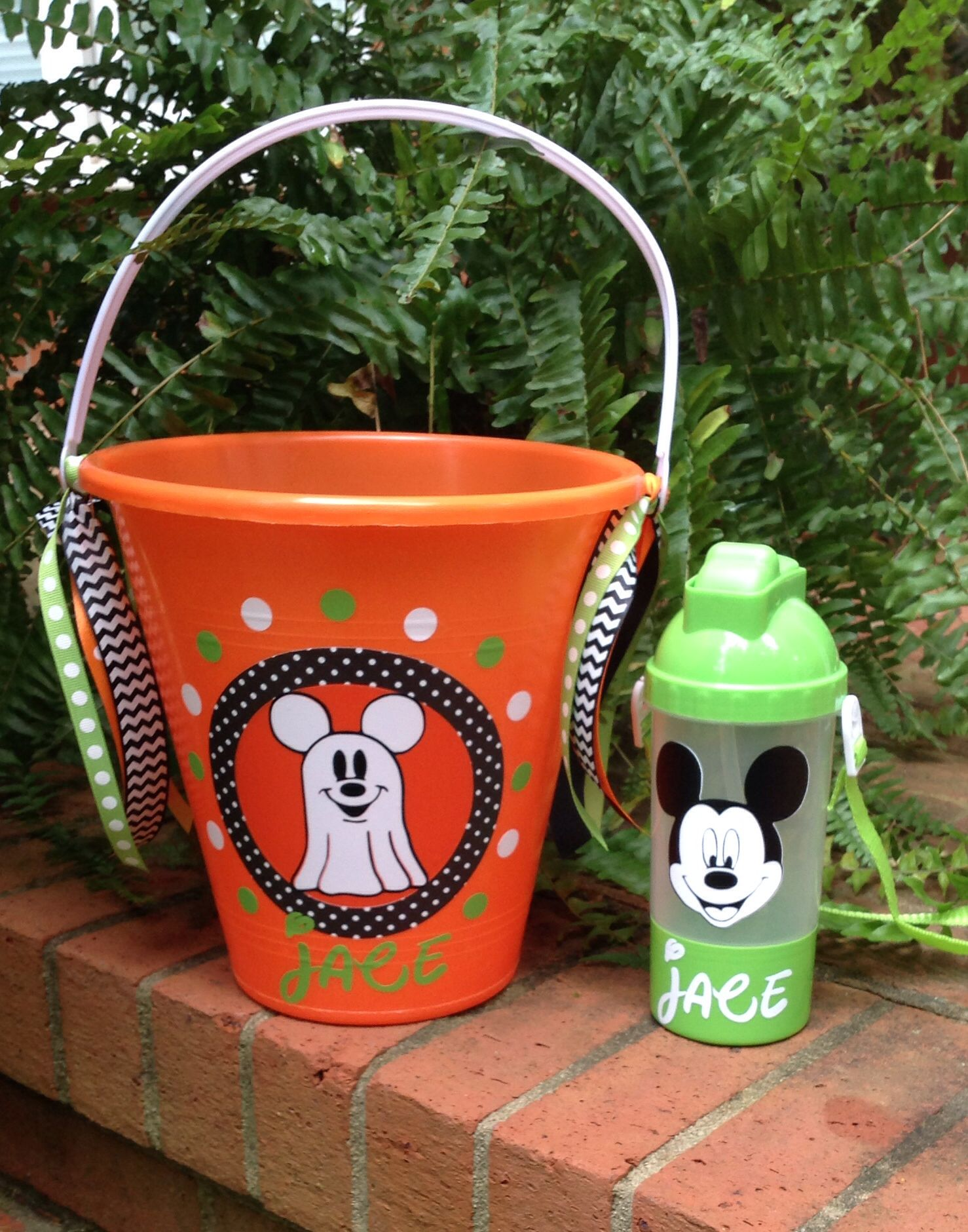 Mickey Mouse Halloween Bucket And Tumbler Find Me On