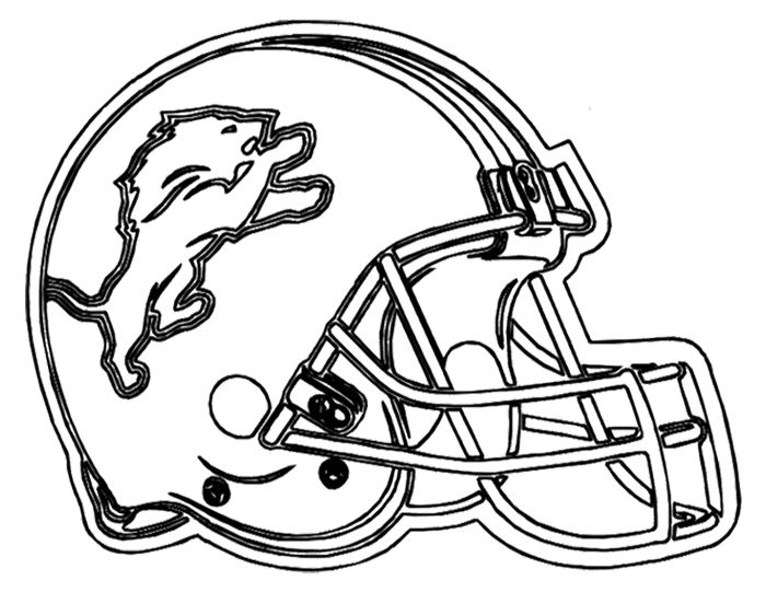 Football Helmet Detroit Lions Coloring