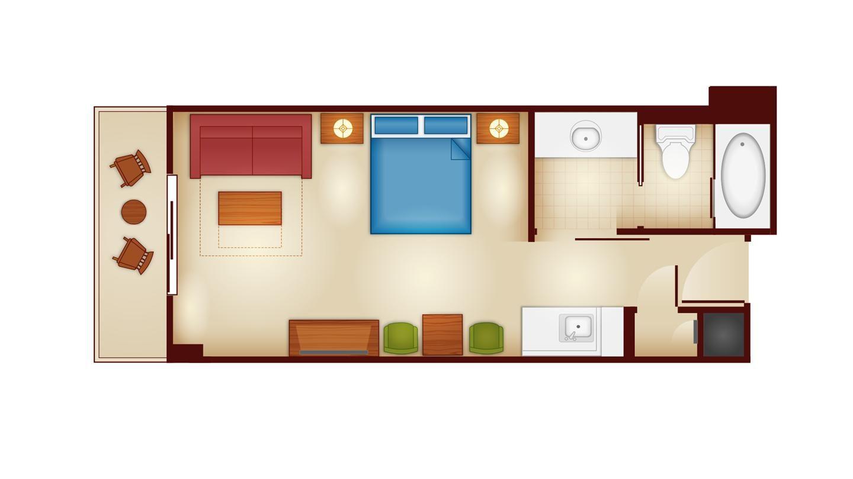 Copper Creek Villas And Cabins Deluxe Studio Floor Plan Disney Wilderness Lodge Wilderness Lodge Disney Resorts Wilderness Lodge
