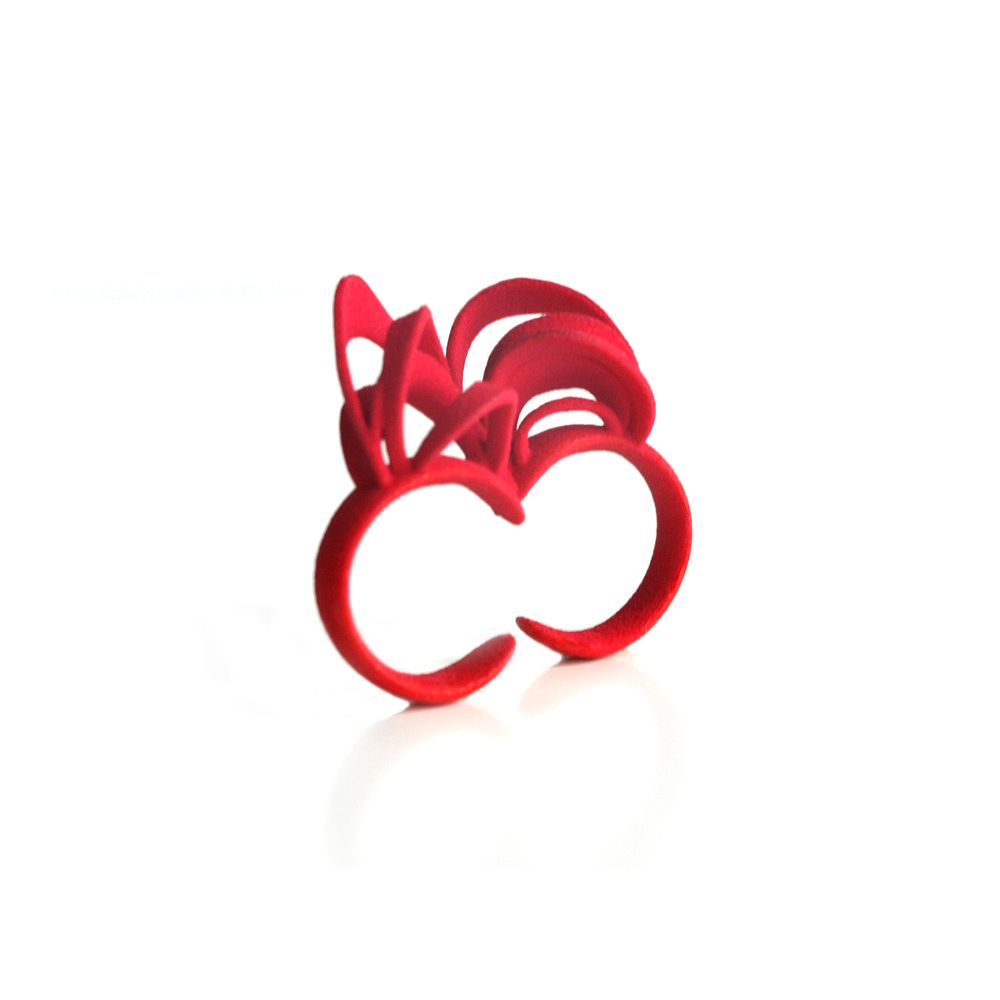 The Ribbon Ring by AMINIMAL studio is part of the 2011 Field Test collection, which is inspired by the structures found in magnetic fields.
