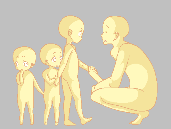 Kids Base By Bases Lover Drawing Reference Poses Drawing Base Character Drawing