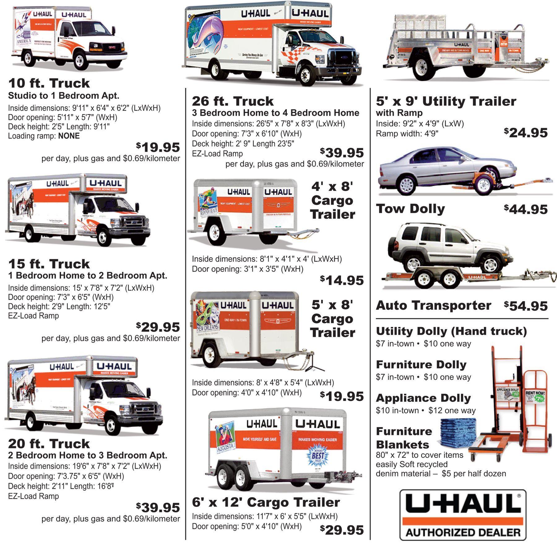 Uhaul truck rental quote