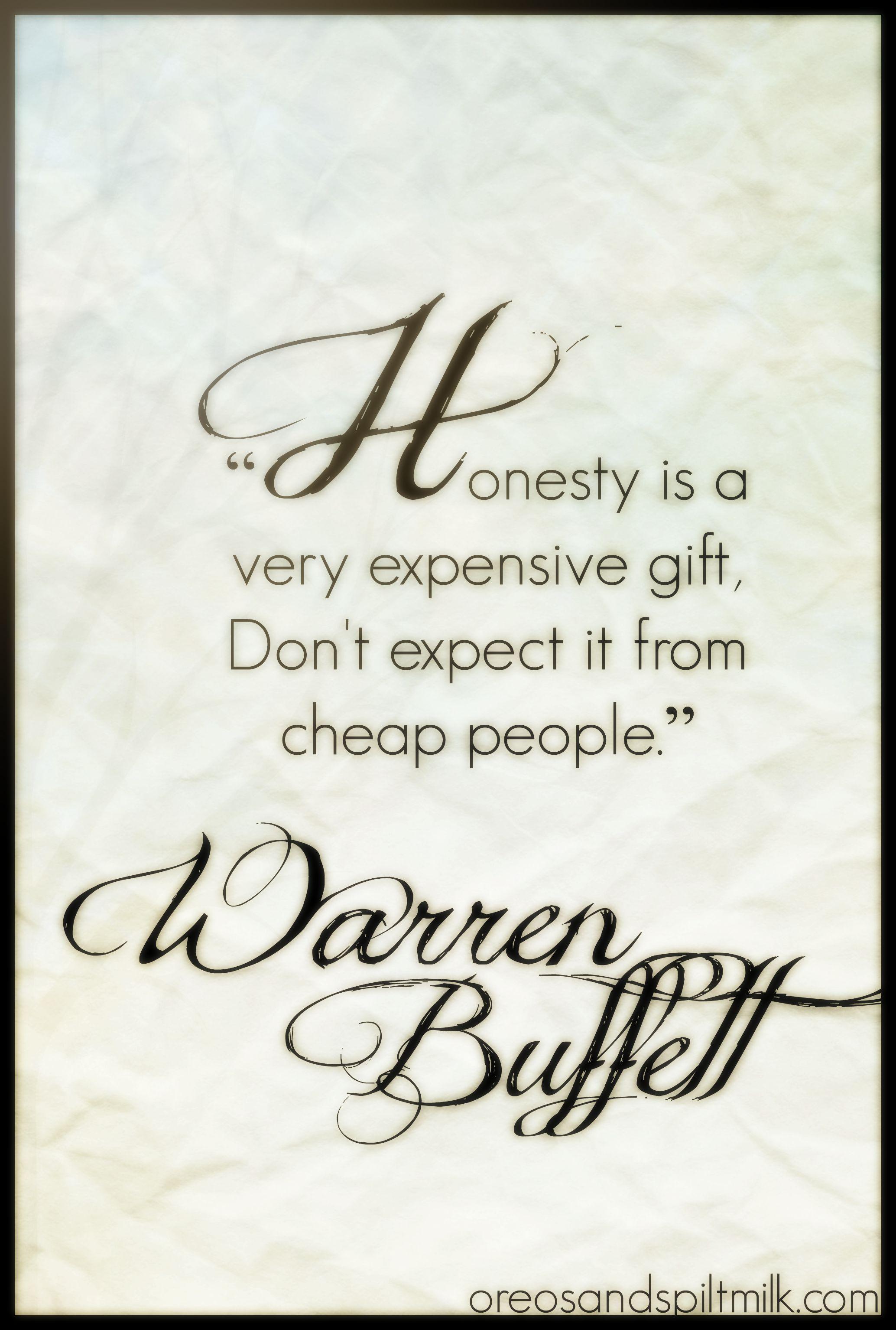 Honesty Quotes Quote Of The Day Quotes On Honesty Warren Buffett  Warren