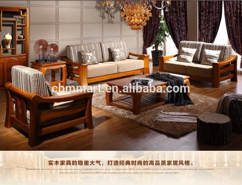 Source Teak Wood Sofa Set Design For Living Room Furniture On M