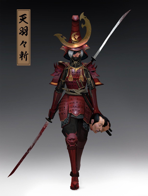 ArtStation Samurai II, Anima 08 Fantasy character