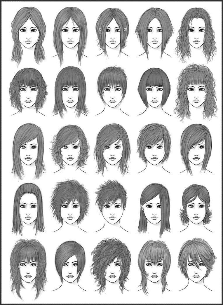 Boy haircuts drawing womenus hair  set  by darksheikah on deviantart i like this