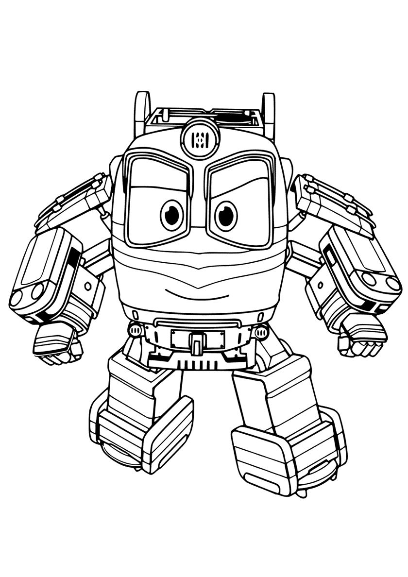 Combat Robot Alf High Quality Free Coloring From The Category Robot Trains More Printable Pictur Train Coloring Pages Coloring Pages Cartoon Coloring Pages