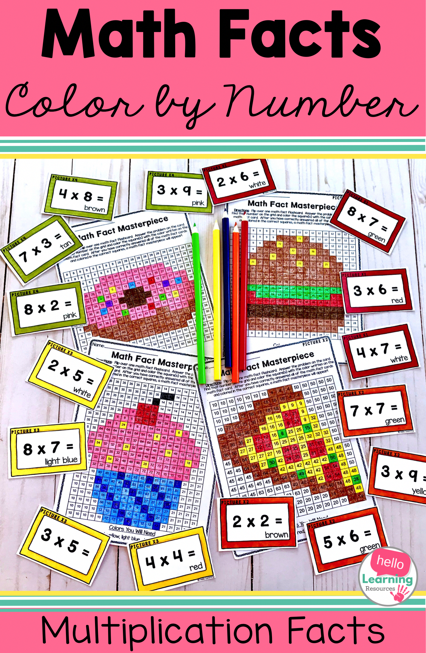 Multiplying Fractions Color By Number Free
