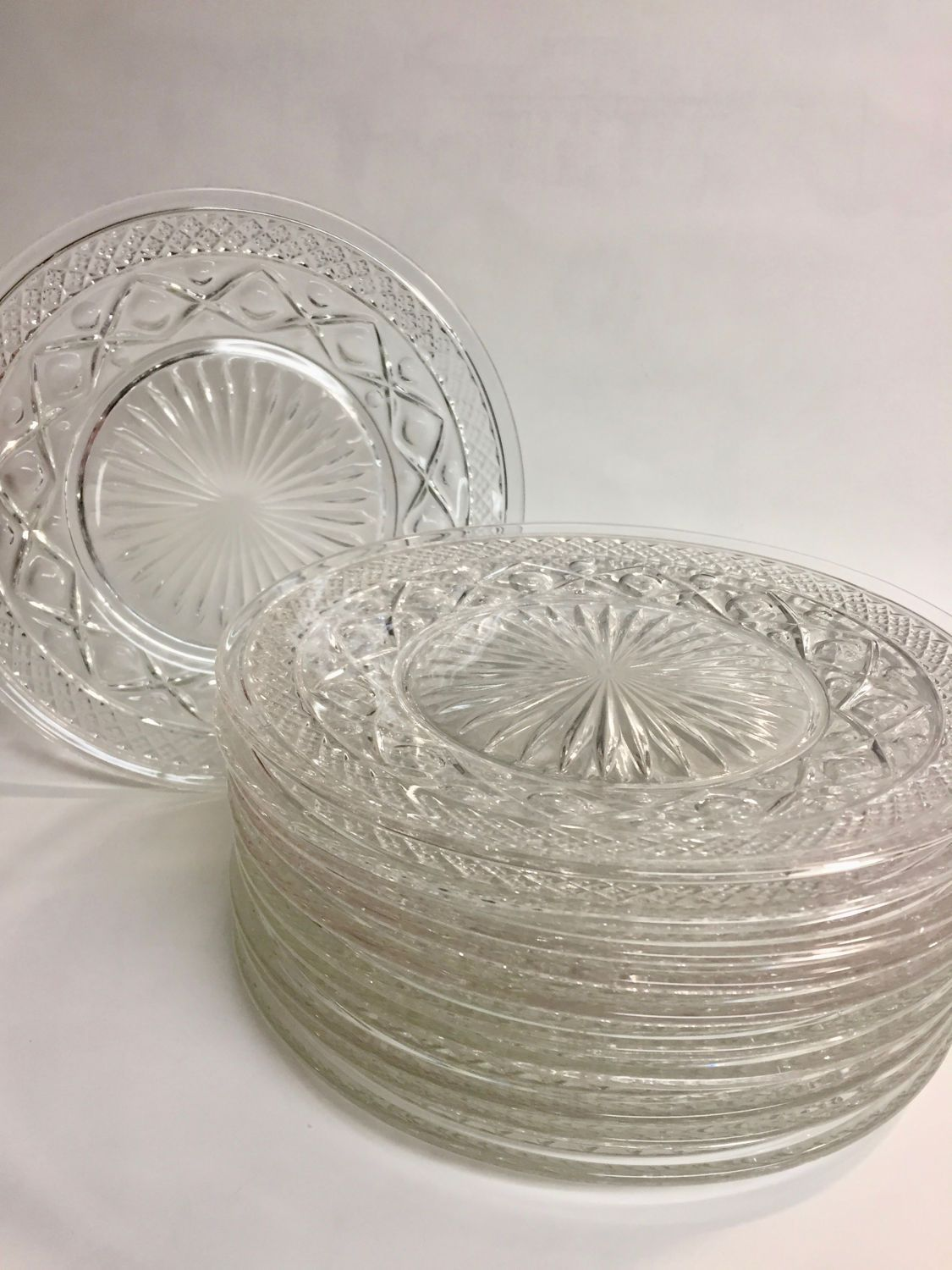 Awesome Cape Cod Glass Company Part - 9: Imperial Glass Co CAPE COD Plate Set | Clear Pressed Glass Plate | Salad  Plates |