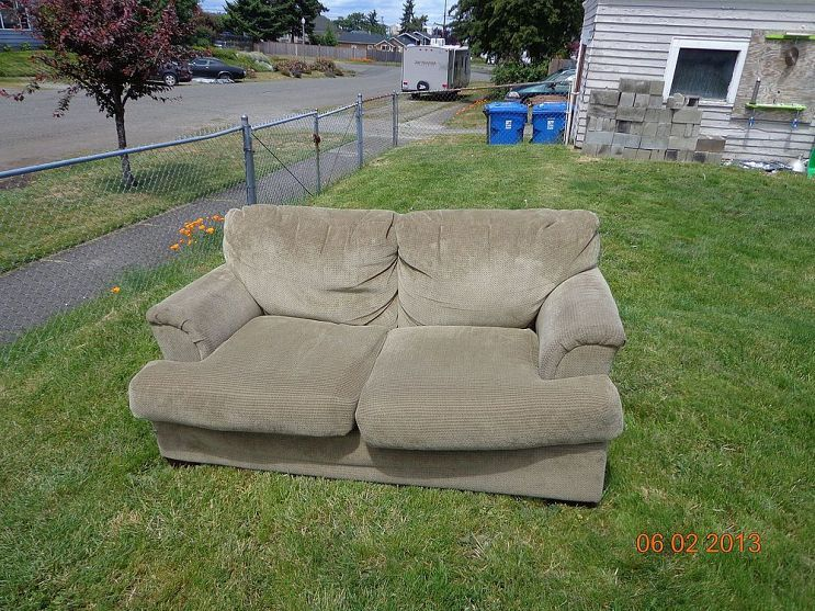 Marvelous Upcycle Indoor Love Seat To Outdoor Couch Outdoor Couch Evergreenethics Interior Chair Design Evergreenethicsorg
