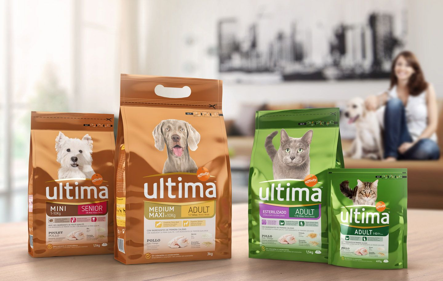 Pet Food Packaging Design By Little Buddha Affinity Petcare Ultima Pet Food Packaging Food Animals Food Packaging Design