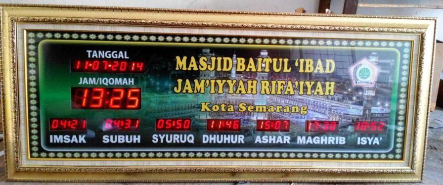 Jual Jam Sholat Digital Masjid Siap Kirim Ke Semarang Semarang