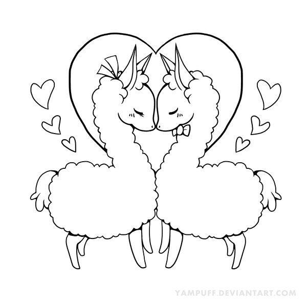 love llama lineart by yampuff on deviantart llama alpacacoloring sheetscoloring