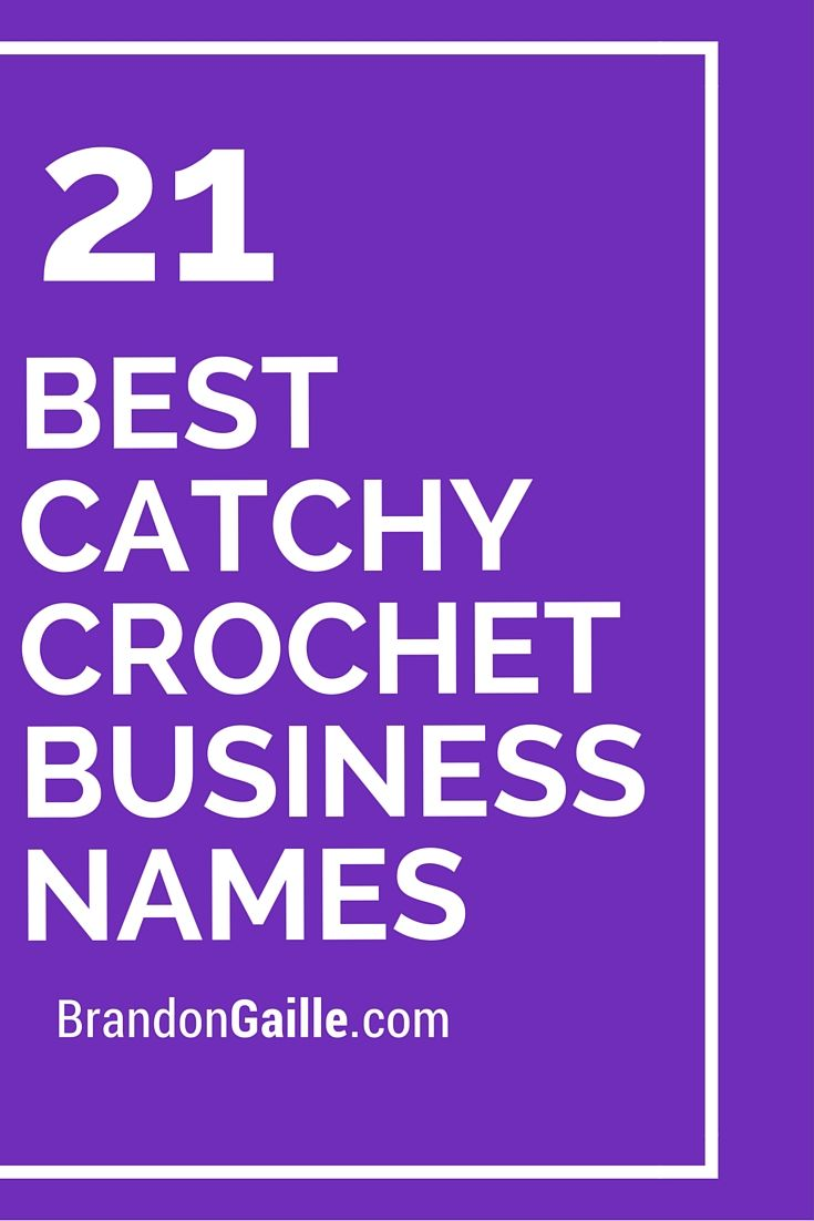 23 Best Catchy Crochet Business Names | Crochet, Business and ...