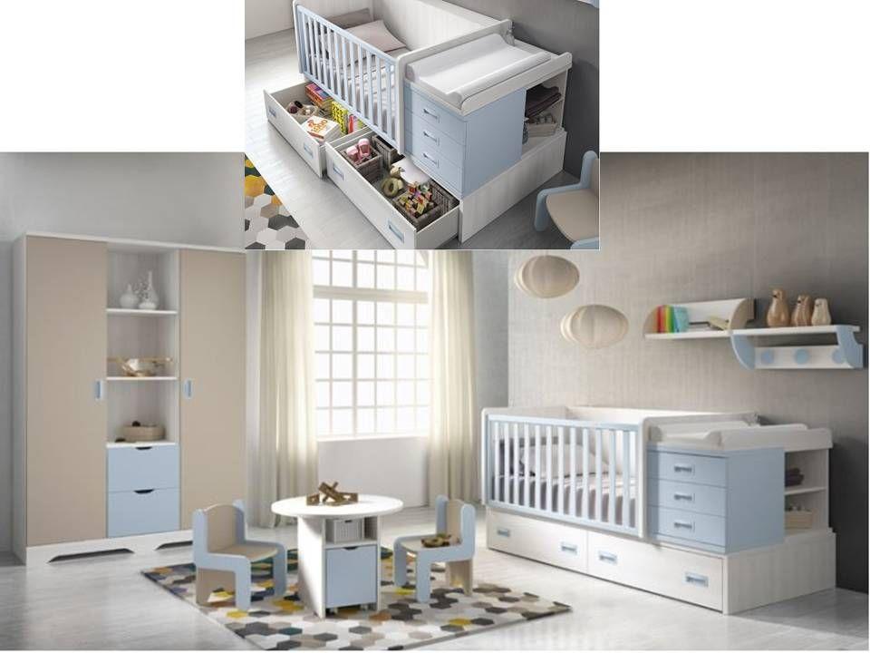 Cuna convertible en cama / Convertible crib bed http://www.decorhaus ...