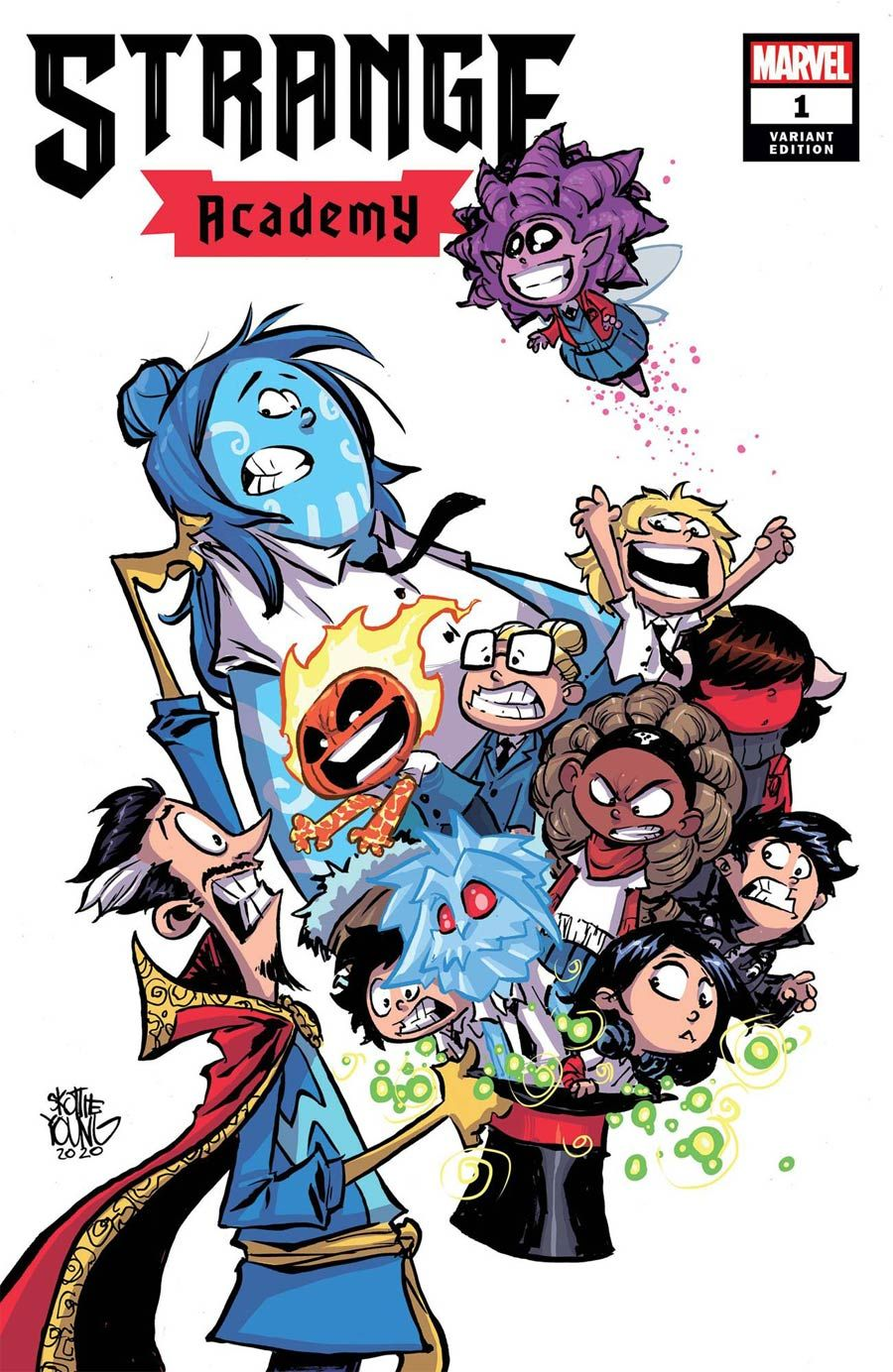 Angela Maiore Porn strange academy #1 cover e variant skottie young cover in