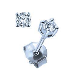 581b4e6ea6564 Ben Moss Jewellers 0.13 Carat TW, 10k White Gold Diamond Stud ...